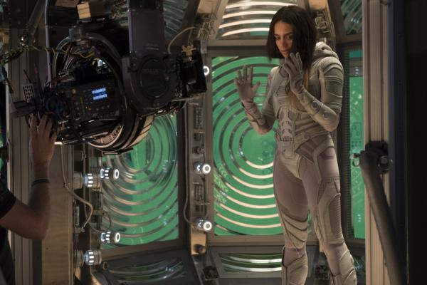 Hannah John-Kamen sul set di Ant-Man and The Wasp