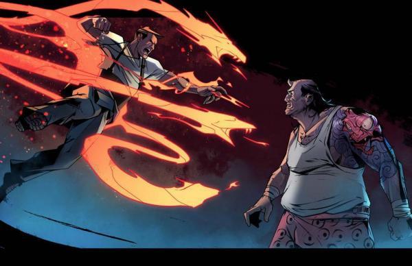 Una scena spettacolare dove vengono scatenati i poteri dei personaggi in City of Mist.