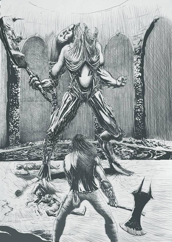 Una delle illustrazioni interne a cura di Alex Reale