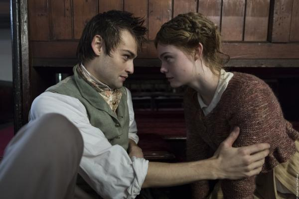 Mary e Percy Shelley in una scena del film