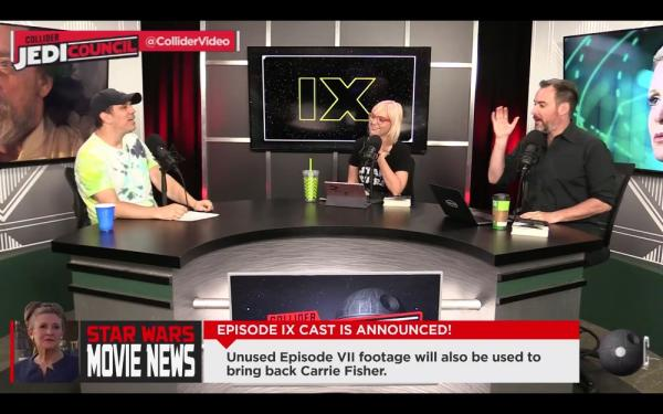 Kristian Harloff, Emma Fyffe e Ken Napzok intervengono nel podcast Jedi Council di Collider.