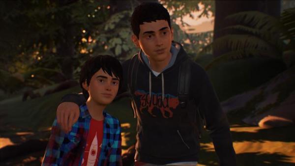 I due protagonisti di Life is Strange 2: il piccolo Daniel Diaz e suo fratello maggiore Sean.