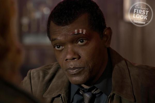 Samuel L. Jackson in Captain Marvel
