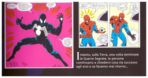 Spider-Man trova il costume nero durante le Guerre Segrete