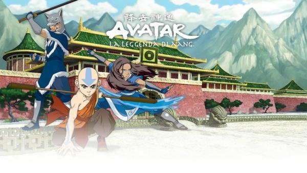 Un'illustrazione che ritrae i protagonisti della serie animata Avatar – La leggenda di Aang. (Fonte: Nicktv.it)