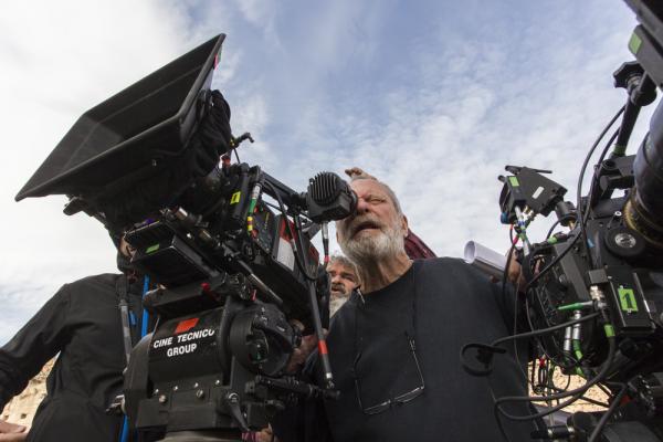 Terry Gilliam sul set di L'uomo che uccise Don Chisciotte