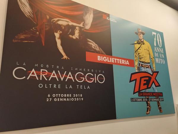 Tex non sfigura nemmeno di fianco a Caravaggio, un'altra delle mostre ospitate alla Permanente di Milano.