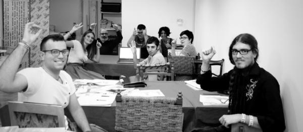 I ragazzi dell'associazione La Matita Parlante. (Fonte: Produzionidalbasso.com)