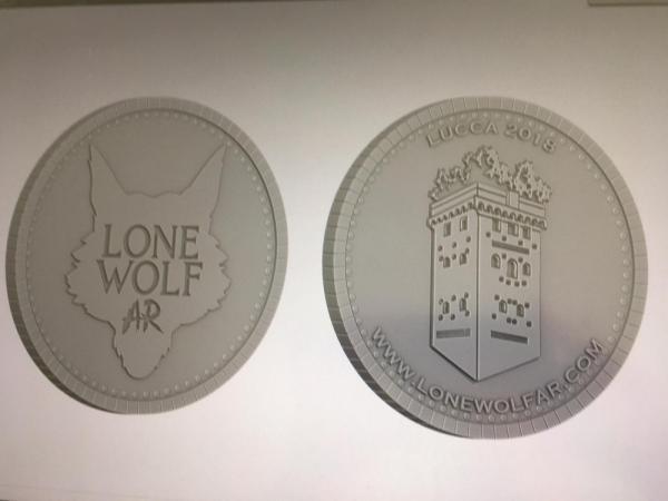 Moneta commemorativa Lone Wolf AR per Lucca Comics & Games.