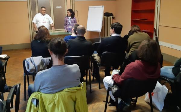 Irene Grazzini e Mirko Pelliccioni all'Educational Dal Fantasy alla Fantascienza e viceversa a Lucca Comics & Games