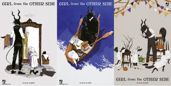 Le cartoline di Girl from the other side, disponibili solo in fumetteria.