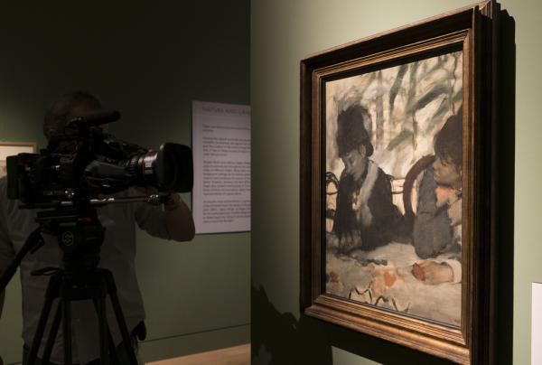 Filming Au Cafe, Edgar Degas, 1876 at Fitzwilliam Museum, Cambridge - EXHIBITION ON SCREEN (David Bickerstaff)