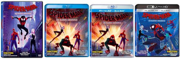 Tutte le edizioni home video di Spider-Man: Un nuovo universo.