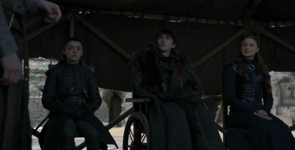 Masie Williams, Isaac Hempstead-Wright e Sophie Turner