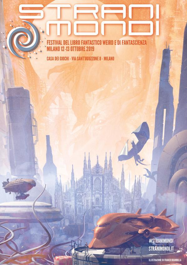 Locandina di Stranimondi 2019 a opera di Franco Brambilla