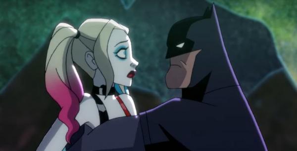 Harley Quinn e Batman nella serie animata.