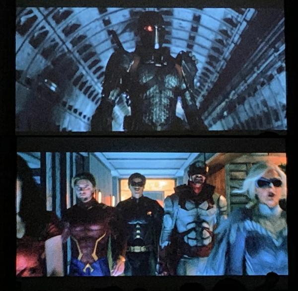 Un primo sguardo a Deathstroke e Aqualad nella seconda stagione di Titans da un tweet di al tweet di Ray Carsillo.
