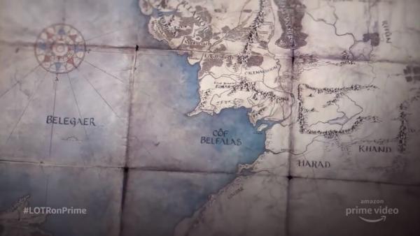 La mappa di The Lord of the rings #LOTRonPrime