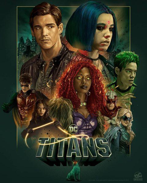 Il poster della seconda stagione di Titans.
