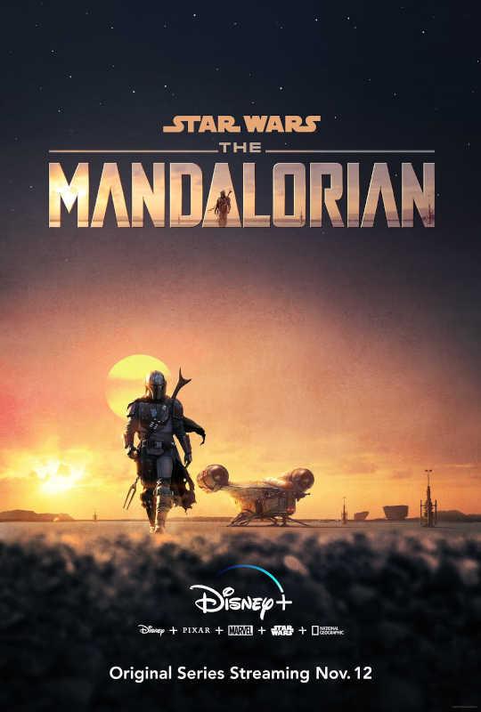 Il poster ufficiale della nuova serie TV The Mandalorian.