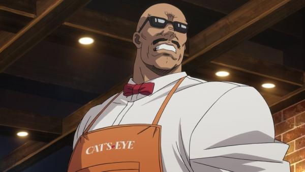 City Hunter. Private Eyes. Umibozu, dipendente del locale Cat's Eye e inarrestabile combattente.