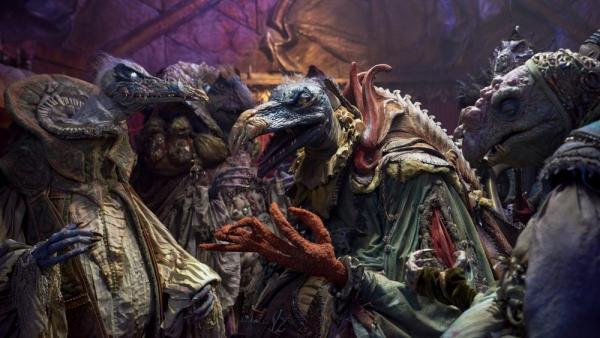 Gli Skeksis non sono certo le creature più graziose in Dark Crystal: La resistenza.