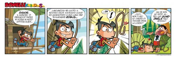 Striscia Bonelli Kids di Lunedì 27 febbraio. © Sergio Bonelli Editore.