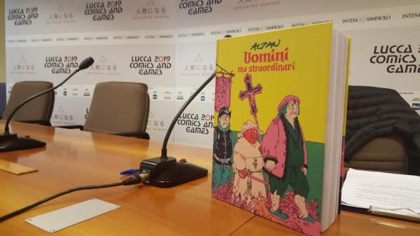 Uomini ma straordinari, il libro di Altan presentato a Lucca Comics & Games 2019.
