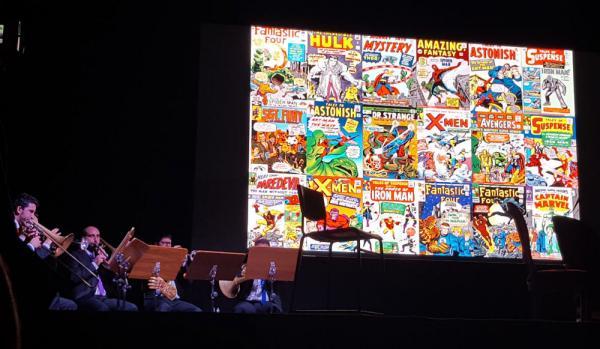 La Quinto Aere Band suona i riarrangiamenti Marvel a Lucca Comics & Games.