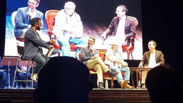 Chris Claremont con Alessandro Bilotta racconta i suoi ricordi su Stan Lee a Lucca Comics & Games.