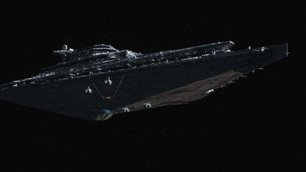 Finalizer, il potente Star Destroyer del Generale Hux e Kylo Ren. (Fonte: Star Wars.com)