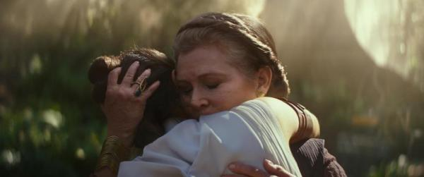 Carrie Fisher e Daisy Ridley