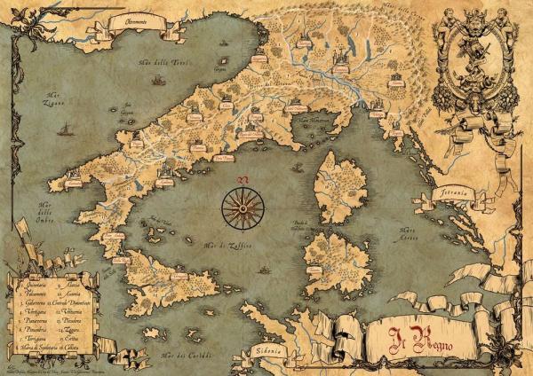La mappa del regno realizzata da Fabio Porfidia.