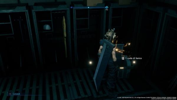 A quanto pare alla Shinra non hanno perso il vizio di abbandonare in giro per la struttura forzieri pieni di strumenti utili per un'eventuale intrusione di nemici. Buon per noi. Final Fantasy VII Remake.