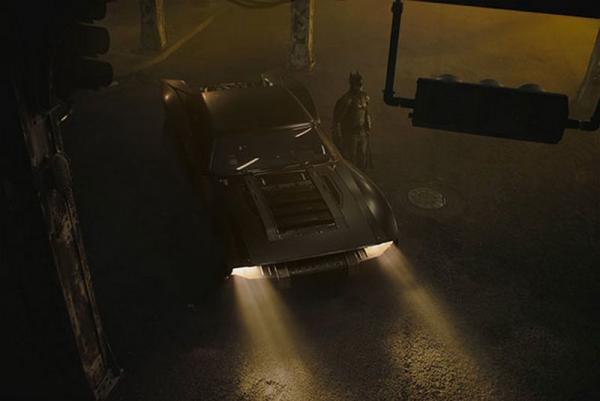 La batmobile in The Batman (2021)