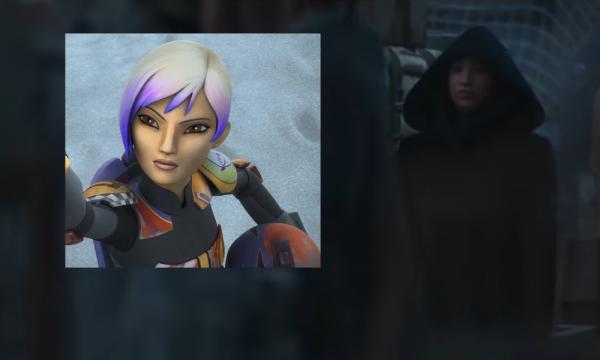 Sasha Banks in un fotogramma dal trailer di The Mandalorian stagione 2.