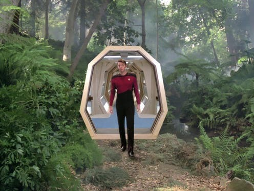Il ponte ologrammi in Star Trek: The Next Generation