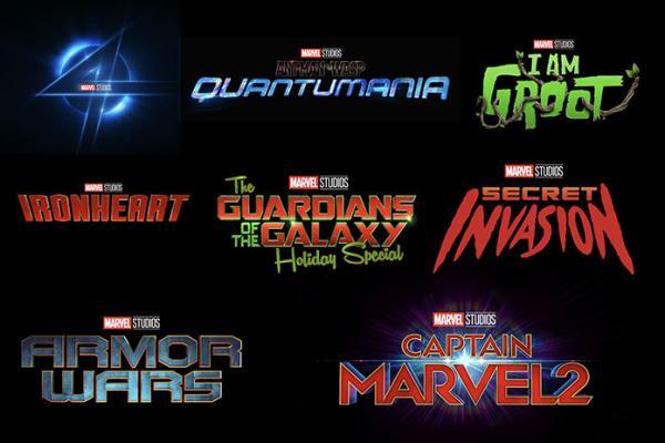 I loghi dei progetti Marvel