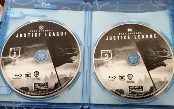 I due dischi di Zack Snyder's Justice League