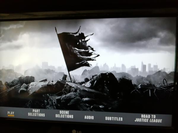 I menu di Zack Snyder's Justice League