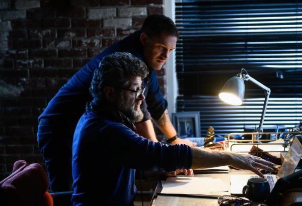 Andy Serkis e Tom Hardy sul set di Venom: la furia di Carnage,