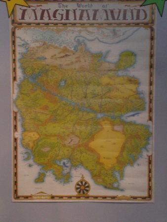 La mappa di Magnamund. Disegno di Francesco Mattioli.