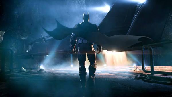 Il Cavaliere Oscuro si accinge a decollare con il Batwing