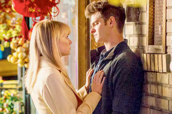 Emma Stone e Andrew Garfield in The Amazing Spider-Man 2