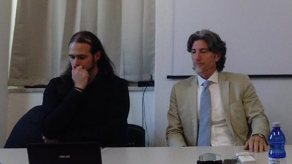 Andrea Atzori e Anthony LaMolinara alla conferenza stampa sul progetto cinematografico per Iskìda della Terra di Nurak