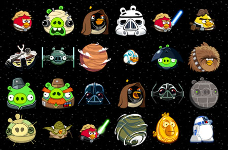 I personaggi di Angry Birds Star Wars