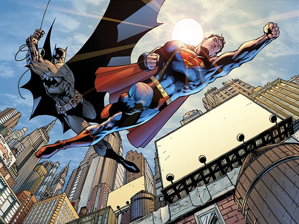 Batman e Superman in un'illustrazione di Jim Lee