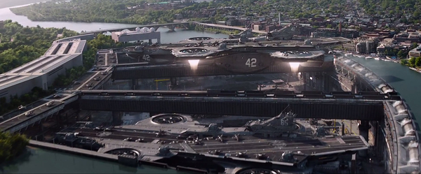 L'Helicarrier in Captain America: The Winter Soldier