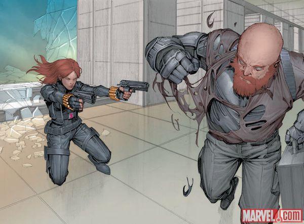 Captain America The winter soldier Prelude Infinite Comic - Disegno di Rock-He Kim