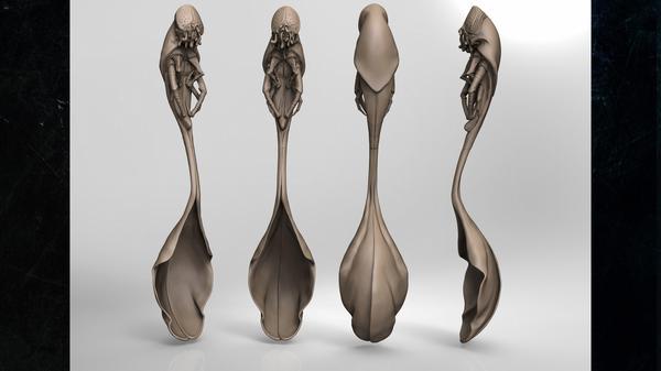 Argenteria ispirata alle creature di Howard Philips Lovecraft